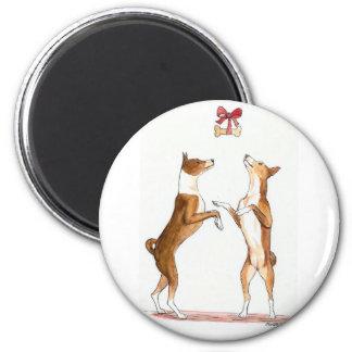 Twee Magneet van de Kunst van de Hond van Basenji