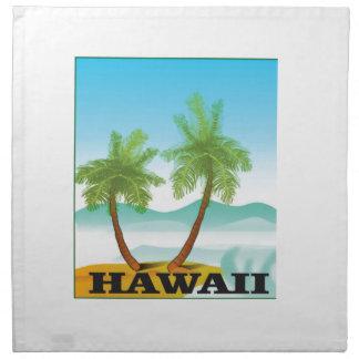 twee palmen van Hawaï Servet