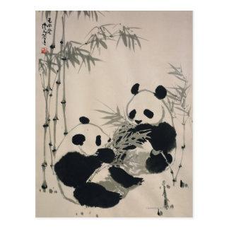 Twee Panda's Briefkaart