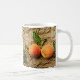 Twee perziken. Gesprek Koffiemok