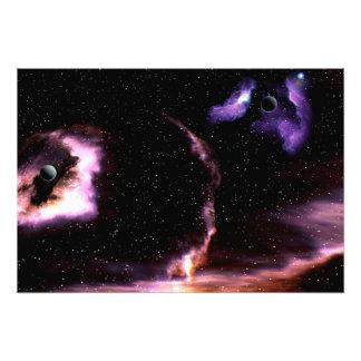 Twee Planeten Fotografische Afdruk