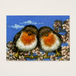 Twee robinsACEO print Visitekaartjes