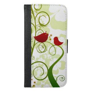 Twee rode vogels in een boomiPhone 6/6s plus