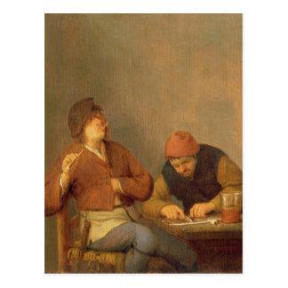 Twee Rokers in een Binnenland, 1643 Briefkaart
