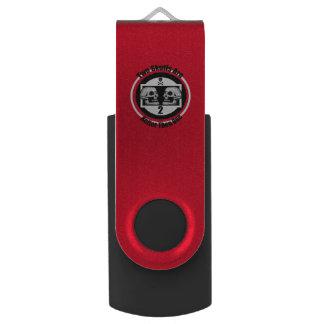 Twee Schedels - Zwarte & Witte Grafisch USB Stick
