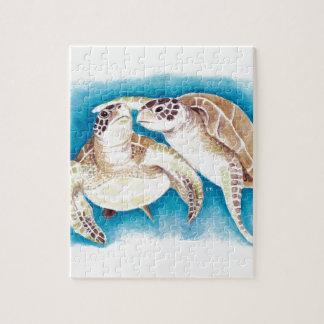 Twee Schildpadden van het Zee Puzzel