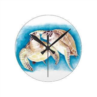 Twee Schildpadden van het Zee Ronde Klok