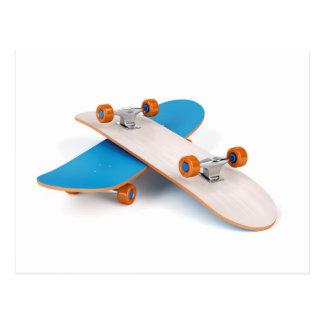 Twee skateboards briefkaart