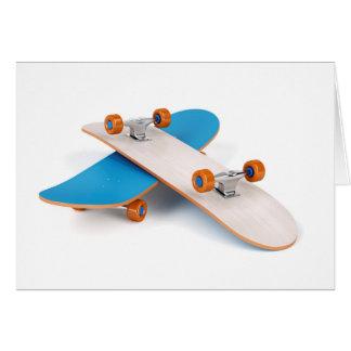 Twee skateboards wenskaart