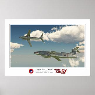 Twee van een Soort: Martin XB-51 Poster