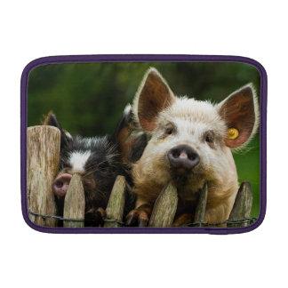 Twee varkens - varkensfokkerij - beschermhoes voor MacBook air