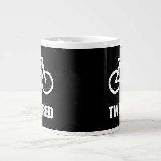 Twee Vermoeide Fiets Grote Koffiekop