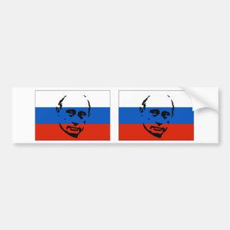 TWEE Vladimir Putin/Russische Vlag Bumpersticker