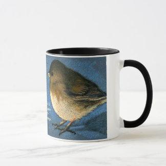 Twee Vogels die onder ogen zien: Koffie, Gesprek, Mok