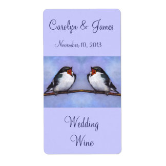 Twee Vogels op Tak: De Wijn van het huwelijk: Het Verzendlabel