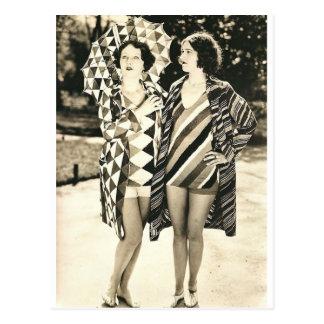 Twee vrouwen briefkaart