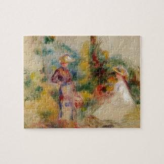 Twee Vrouwen in een Tuin door Kazimir Malevich Puzzel