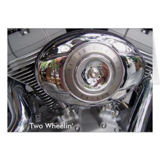 Twee Wheelin Wenskaart