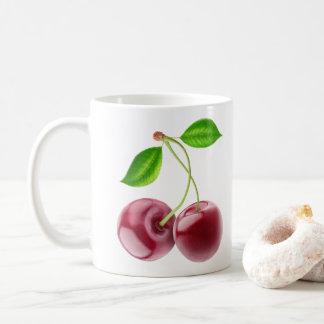Twee zoete kersen koffiemok