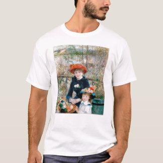 Twee Zusters op Terras door Renoir. Fijne T Shirt