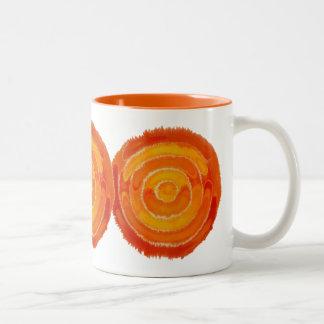 Tweede Chakra Helende Kunst #1 Tweekleurige Koffiemok