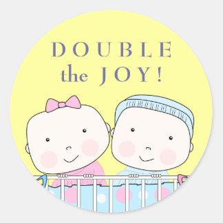 Tweelingen in de Sticker van het Baby van het