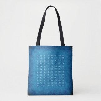 Tweezijdig Blauw Bolsa met een Raadsel van het Draagtas