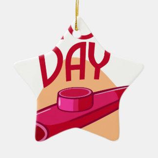 Twenty-fif Januari - de Dag van de Irish coffee Keramisch Ster Ornament
