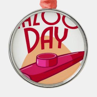 Twenty-fif Januari - de Dag van de Irish coffee Zilverkleurig Rond Ornament