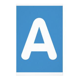 Twitter Emoji - Letter A Persoonlijk Briefpapier