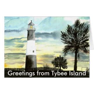 TYBEEISLANDLIGHTPOSTER, Groeten van Tybee is… Kaart