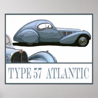 Type 57 Atlantische Oceaan Poster