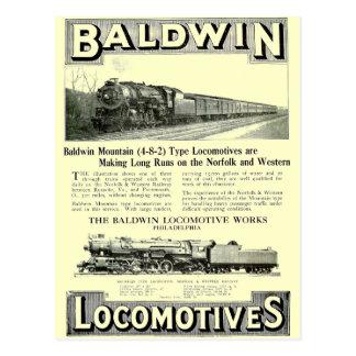Type van Berg van de Stoom van Baldwin het Briefkaart