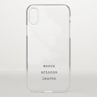 Type | van familie de Namen van Uw Kinderen iPhone X Hoesje
