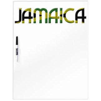Typografie van de Kleuren van de Vlag van Jamaïca Whiteboard