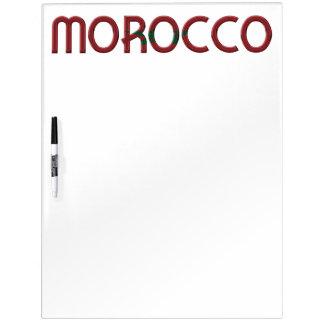 Typografie van de Kleuren van de Vlag van Marokko Whiteboards