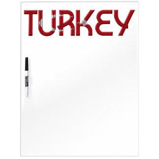 Typografie van de Kleuren van de Vlag van Turkije Whiteboard
