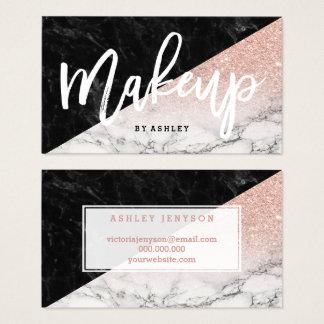 Typografie van de make-up nam goud schittert visitekaartjes