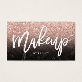 Typografie van de make-up nam goud schittert zwart