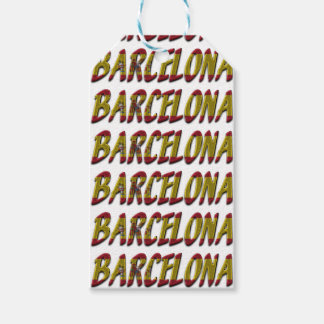 Typografie van de Vlag van Barcelona Spanje de Cadeaulabel