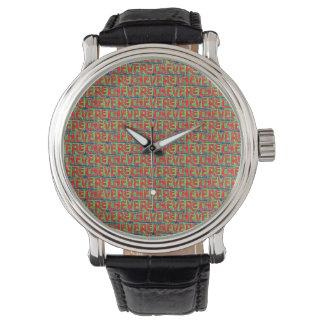 Typografisch Patroon Graffiti Horloge