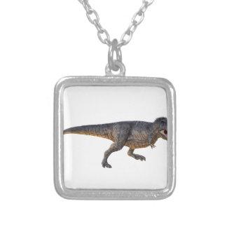 Tyrannosaurus-Rex met Gele Kleuring Zilver Vergulden Ketting