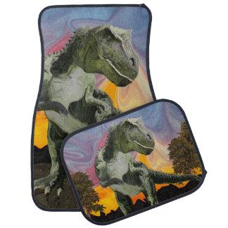 Tyrannosaurussen Rex bij het Uur van de Schemering Auto Vloermat