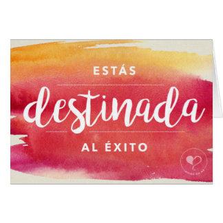 U bent Bestemd voor Succes Spaanse Notecard Briefkaarten 0