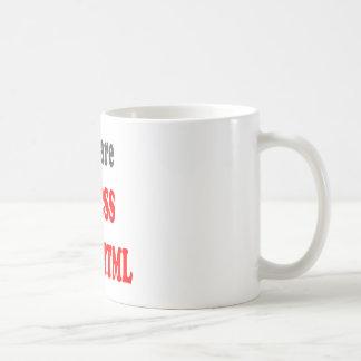 U bent CSS aan mijn HTML Koffiemok