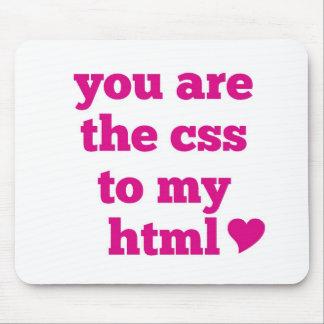 U bent CSS aan Mijn HTML Muismat