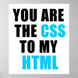 U bent CSS aan mijn HTML Poster