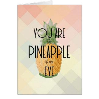 """""""U bent de Ananas van mijn Oog """" Kaart"""