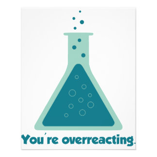 U bent de Beker van de Wetenschap van de Chemie Ov Fullcolor Folder