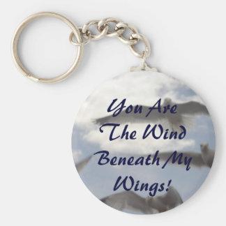 U bent de Wind onder Mijn Vleugels! Basic Ronde Button Sleutelhanger
